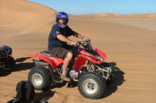 Quad biking, one of the many outdoor activities at Swakopmund