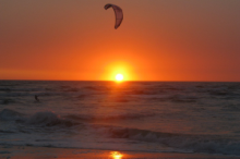 Kite Surfer at Sunset - Swakopmund
