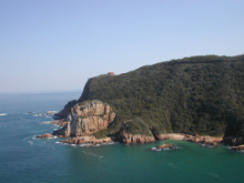 Knysna Heads along the Garden Route
