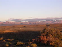 Little Karoo and Outeniqua Mountain range near Oudtshoorn