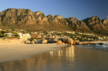 The twelve apostles overlooking Llandudno beach in Cape Town